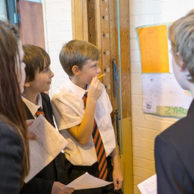 Students taking part in Enterprise Day at school