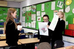 Year 9 students practising their product pitches at one of our Enterprise Days