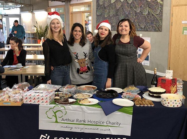 Form the Future team at Future Business Centre hosting Christmas bake sale in support of Arthur Rank Hospice Charity