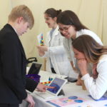 Exhibitors were invited to bring interactive activities for the students to try