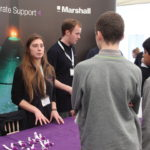Many of the STEM employers showcased their apprenticeship and degree apprenticeship opportunities