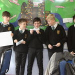 Year 8s presenting their business idea at an Enterprise Day
