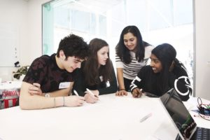 The students worked together in teams to develop creative and innovative ways of improving mental health services for young people