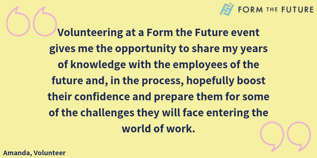 volunteer benefits for industry professionals Form the Future